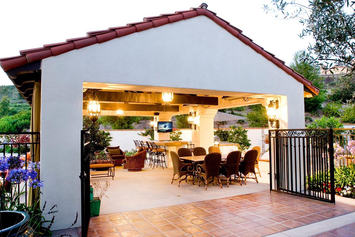 Cabanas, Patio Covers, Casitas | Teserra Outdoors | Palm ... on Patio Cabana Ideas id=42783