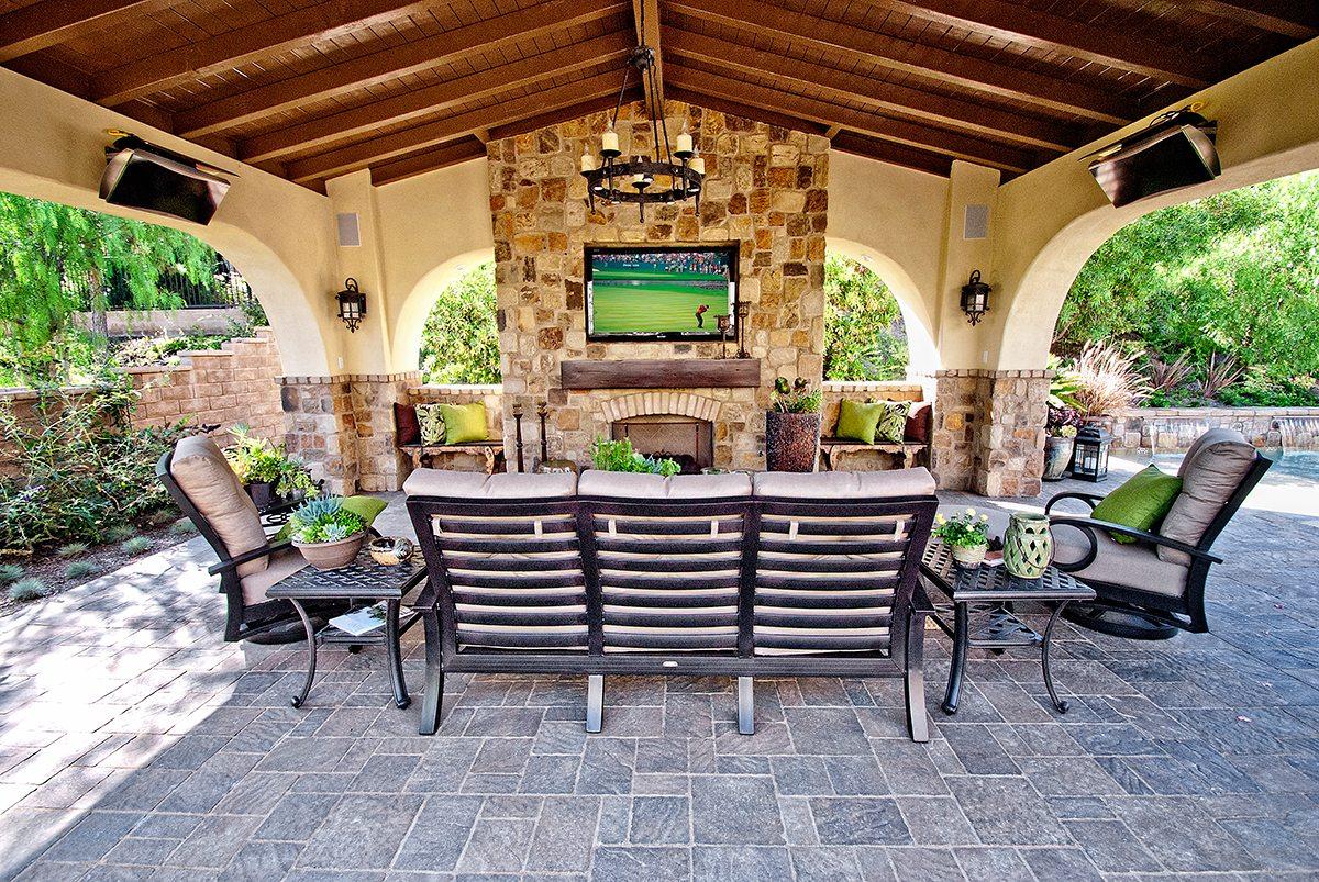 Cabanas, Patio Covers, Casitas | Teserra Outdoors | Palm ... on Patio Cabana Ideas id=96433