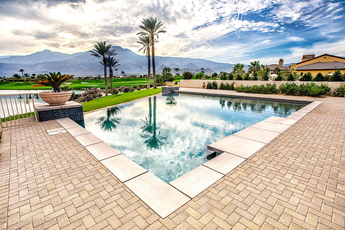 Pools And Spas Infinity Edge Teserra Outdoors Palm