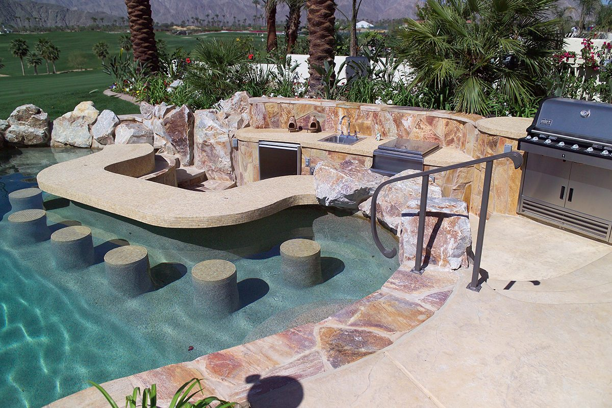 Swim Up Bars And Kitchens Teserra Outdoors Palm Springs Ca